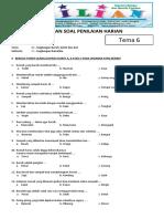 Soal Tematik Kelas 1 SD Tema 6 Subtema 1 Lingkungan Rumahku Dan Kunci Jawaban - Www.bimbelbrilian.com