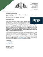 Leonia Inspection Letter