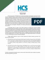 HCS Public Statement-03!05!19
