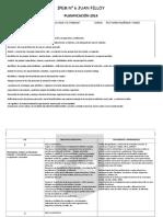 Planificación de 5to FVT 2014
