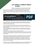 Servizi Software IRiparo Per Trasferire Contatti Da iPhone a Android