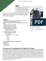 Calidad Del Agua - Wikipedia, La Enciclopedia Libre