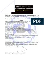 MCS 031 Notes