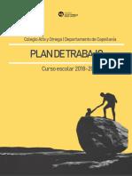 Plan de Trabajo del Departamento de Capellanía (2018 - 2019)