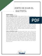 Lección 1 - La Muerte de Juan El Bautista