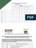 Lista de Medios de Comunicación Registrados y autorizados para efectuar publicidad electoral