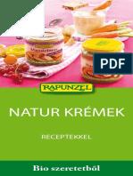 Natur Krémek Receptekkel