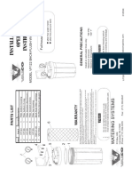 Manual Water Filter Instructions