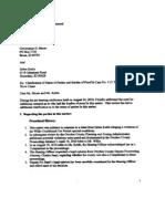 Hearing Officer 9-17-2010 Letter