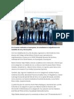 04-03-2019 - Obtienen alumnos del Cobach Sonora, triunfo en la Olimpiada de química - ehui.com