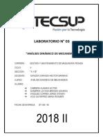Informe 03 Analisis Dinamico de Mecanismos
