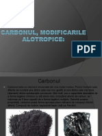 Carbonul modificarile alotropice