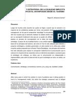 Comunicacion y Estrategia_De La Dualidad Implicita a La Unidad Explicita - Miguel Antezana