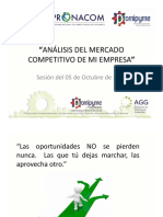 Análisis Del Mercado Competitivo de Mi Empresa (5 Octubre 2017)