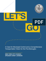 Corey Johnson 'Let's Go' Transit Plan