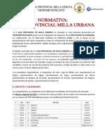 Normativa Liga Milla Urbana Cronometavolante -Diputación Granada