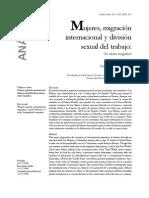 Mujeres, migración internacional y división sexual del trabajo