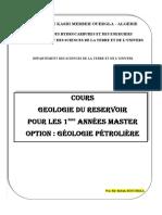 Cours Geologie Du Reservoir Iet i i