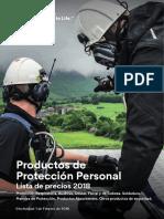 Lista de Precios Proteccion Personal 3M sellada 2018.pdf