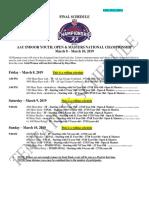 AAU Schedule