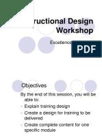 Instructional Design Workshop 122