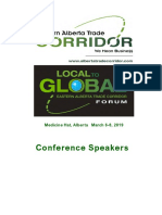 Local to Global Forum Speaker Bios