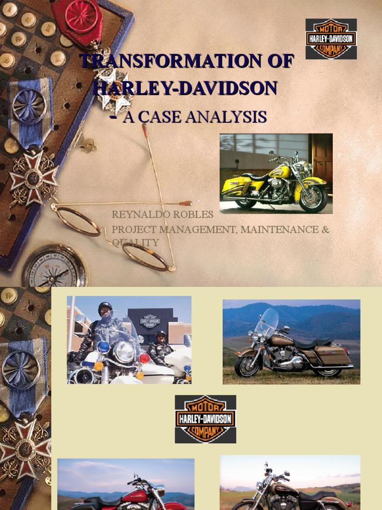 harley davidson inc case study analysis
