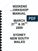 Australian Freeman Mark Pytellek's WORKSHOP MANUAL APRIL 2009