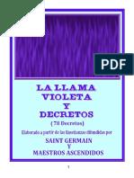 La Llama Violeta y Decretos