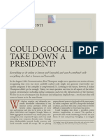 Could Googling Take Down a President  - 2008