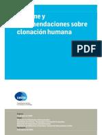 CECTE - Informe y recomendaciones sobre clonación humana