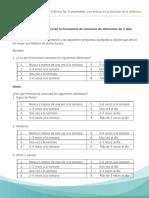 b. Cuestionario de Registro de Alimentos de 7 Dias