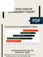 Evolution of Mgmt Theory