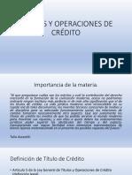 titulos y operaciones de credito