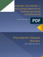 Precedentes Vinculantes en Materia Procesal Constitucional
