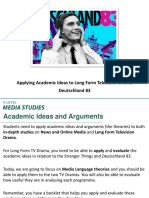 Applying Theory Media Language