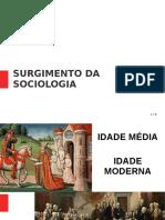SURGIMENTO DA SOCIOLOGIA AULA
