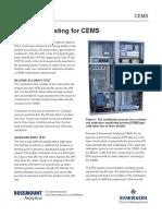 Application Data Sheet Testing for Cems Rosemount en 70750