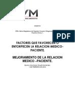 Ensayo de Relación Medico -Paciente