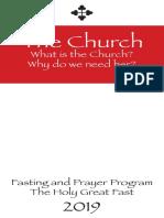 Fasting & Prayer Program 2019