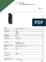 Interruptores Termomagnéticos QO _ QOB_QO110