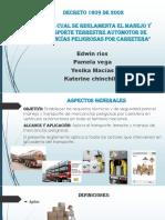 Exposicion Decreto 1609 de 2002 Grupo 1