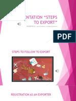 Evidencia 8. Presentation Steps to Export Actividad 15