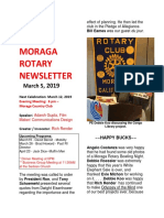 Moraga Rotary Newsletter March 5, 2019