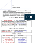 A Summary of Amendments to the Articles of Cooperation and Bylaws1-1