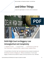 Delhi High Court on Beggary- Law Untangled but Not Completely