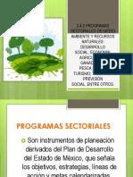 2.4.2 Programas Sectoriales