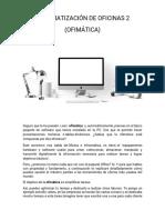 AUTOMATIZACIÓN DE OFICINAS 2