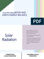 Radiation and Energy Balance