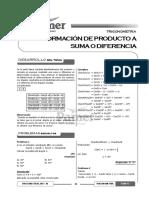 Tema 13 - Transformación de Un Producto a Suma o Diferencia